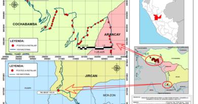 Planta Externa Región Huánuco – Plano de Ubicación de Postes a Instalar en la Ruta PE-14A